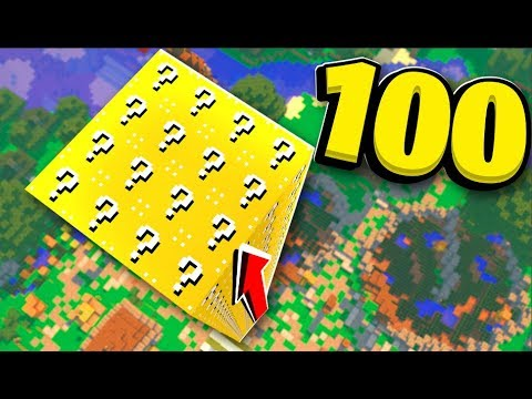 *New Soda Lucky Blocks* 100 Lucky Block Towers! - Minecraft Lucky Block Mod