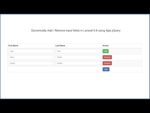 Laravel 5.8 - Dynamically Add or Remove input fields using JQuery Ajax