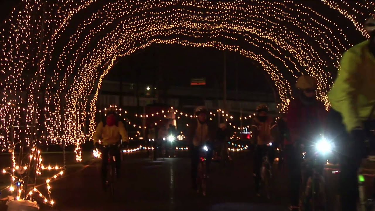 Bike The Lights - Winter Wonderland at PIR - YouTube