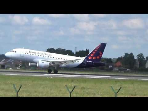 Airbus A319 Brussels Airlines Landing Brussels Airport