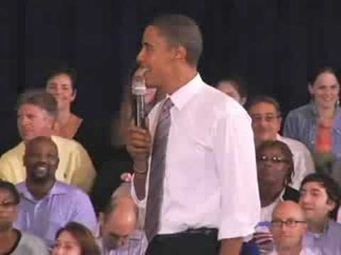 Barack Obama Discusses Civil Liberties At Farmington Hills Town Hall