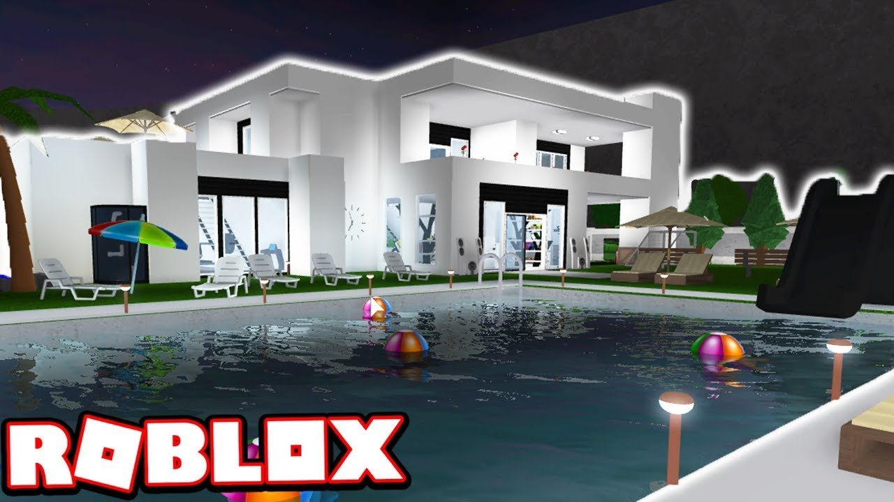 My 1 000 000 modern mansion house tour roblox for Video home tours