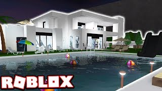MON $ 1 000 000 + MODERNE MANSION HOUSE TOUR !!! (Bloxburg de Roblox)