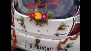 car decoration with real flower  for marring