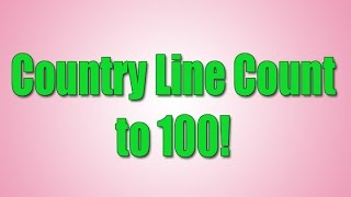 Count to 100 | Counting to 100 | Following Directions | Country Line Count | Jack Hartmann