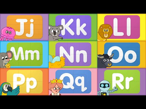 Turn & Learn ABCs | Learn Letters J to R | from Super Simple Songs