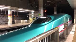 上野駅を通過する東北越新幹線 はやぶさ4号(E5系) 東京行(2018年5月13日)