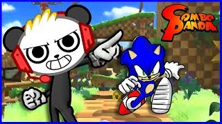 Sonic Forces Speed Running! Combo's custom sonic character reveal! Let's Play with Combo Panda