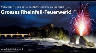 Rheinfall-Feuerwerk 2019: Fire on the rocks