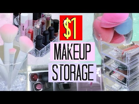 Makeup Storage Ideas for $1!!