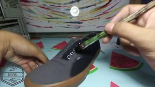 Cara cat ulang sepatu vans / repaint vans