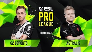 CS:GO - Astralis vs. G2 Esports [Dust2] Map 1 - Group B - ESL Pro League Season 10 Finals