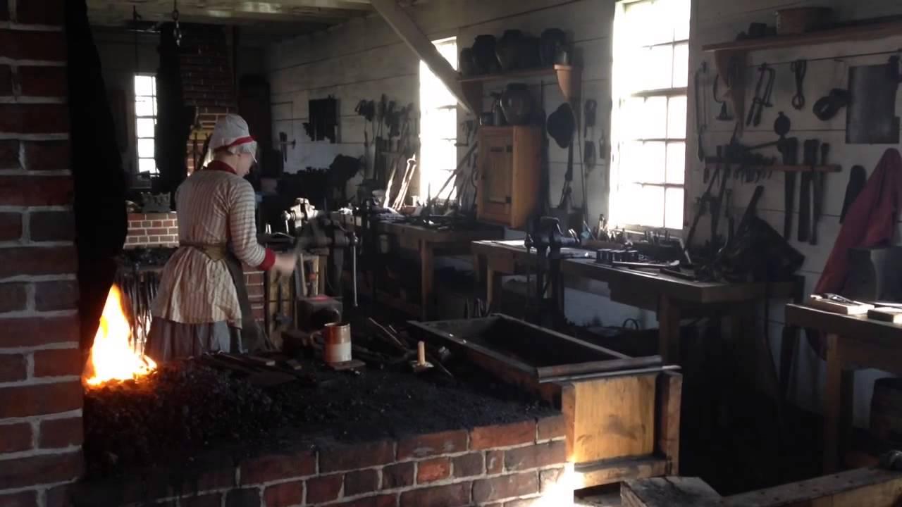 Colonial Williamsburg Blacksmith Youtube