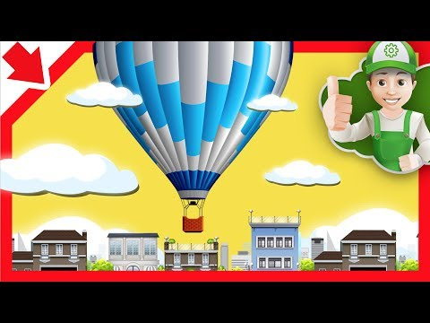 Air Balloon  Children. Children Air Balloon . Cartoon For Kids. Air Balloon  Video For Kids.