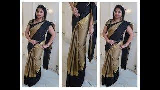 புடவைய இப்படி கட்டினால் ஒல்லியாக தெரிவீர்கள் saree drapping to look slim in tamil