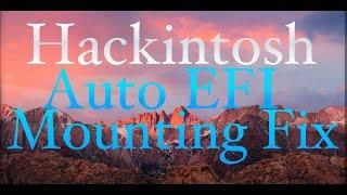 How to Fix Auto EFI mounting on Startup -- Hackintosh
