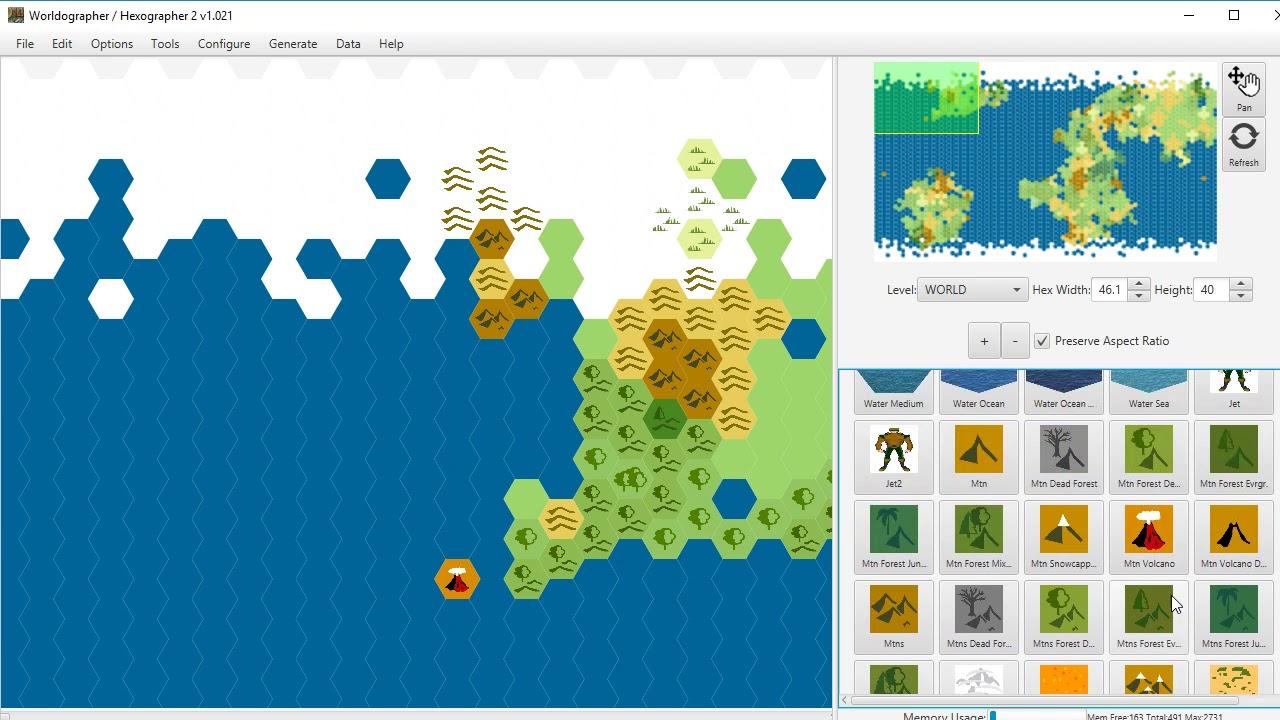 Worldographer add/configure terrain, features, textures & favorites