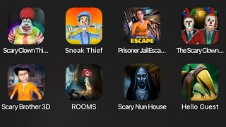 Scary Clown Thief Mall Robbery,Sneak Thief,Prisoner Jail Escape,The Scary Clown Twins House