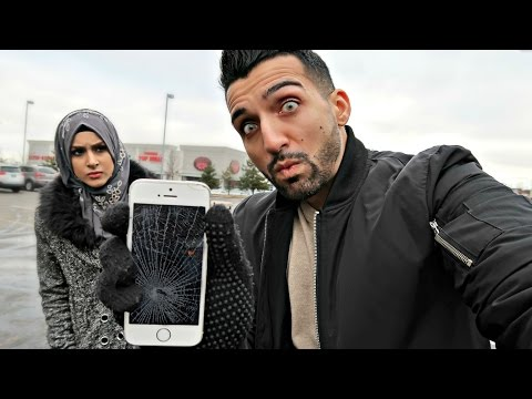 I SMASHED HER iPHONE (PRANK)