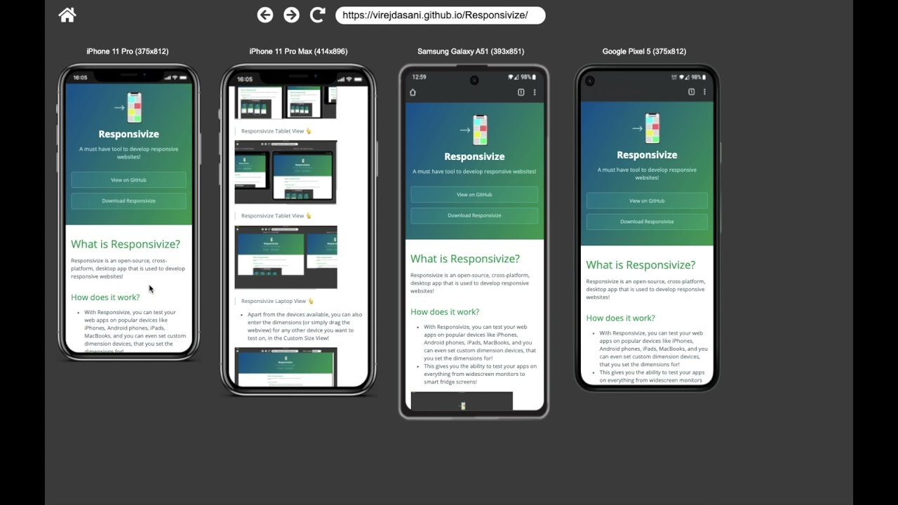 Download Responsivize - A must have tool to develop responsive websites!