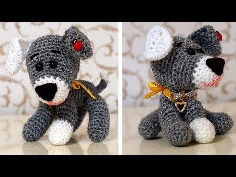 собачка крючком вязание собачки амигуруми крючком игрушка крючком