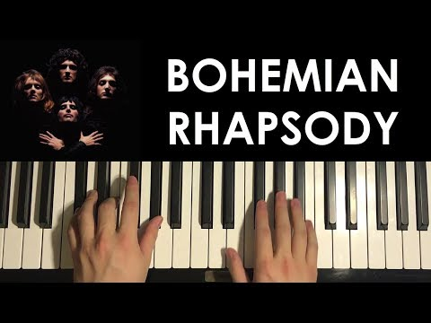 HOW TO PLAY - Bohemian Rhapsody - by Queen (Piano Tutorial Lesson)