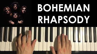HOW TO PLAY - Bohemian Rhapsody - by Queen (Piano Tutorial Lesson) [PART 2]