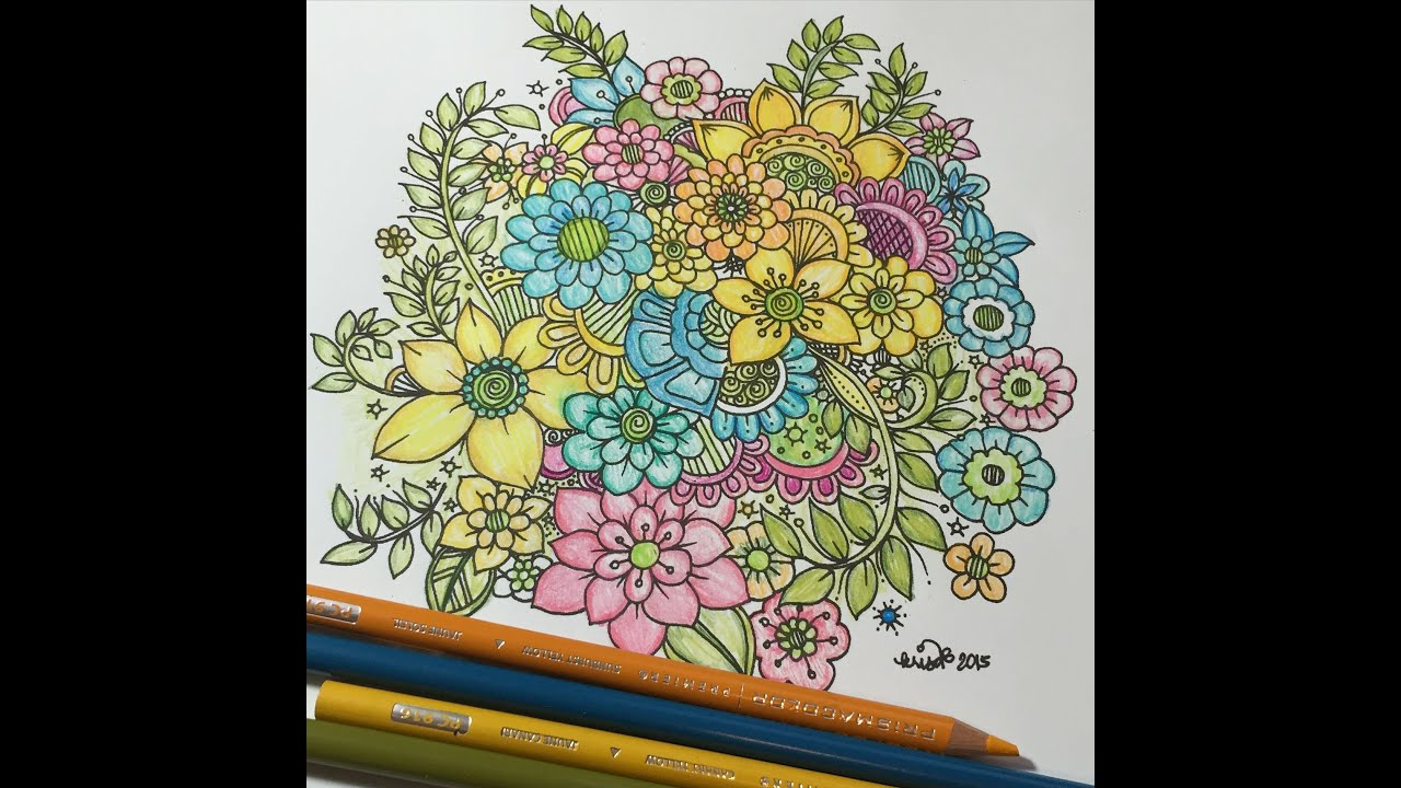 Zen doodle colour - How I Color An Intricate Flower Doodles