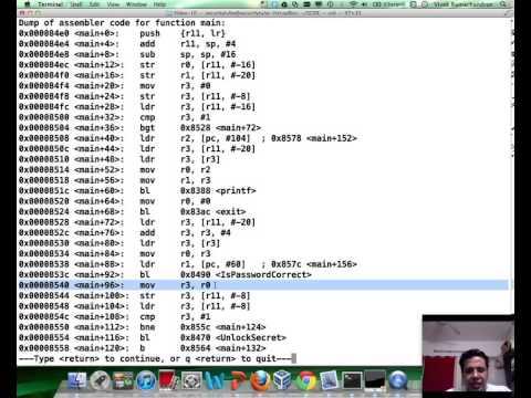 SecurityTube GNU Debugger Expert: Part 12: Cracking a Simple Program on ARM Architecture