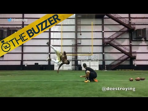UCF's kicker has some pretty sweet kick tricks | @TheBuzzer | FOX SPORTS
