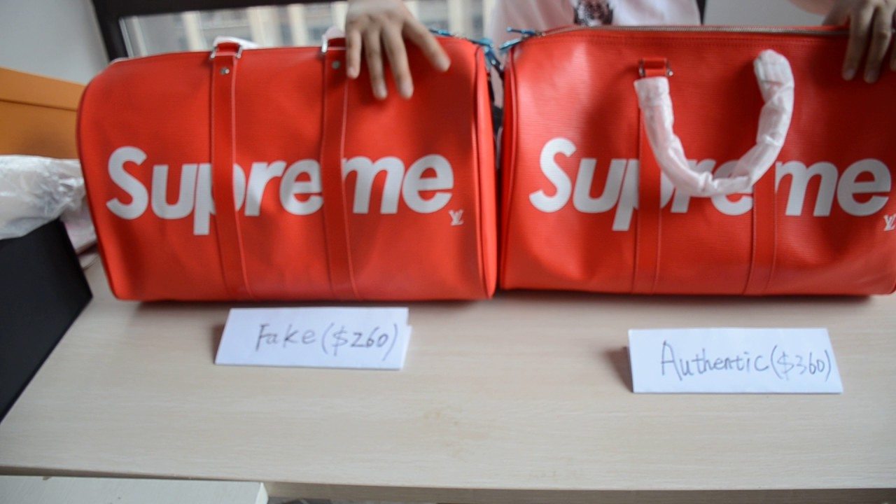 REAL VS FAKE - Louis Vuitton x Supreme LEGIT CHECK + COMPARISON Authentic vs  1:1 Replica