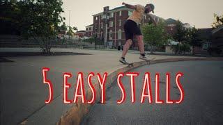 5 easy ledge stalls on a Skateboard