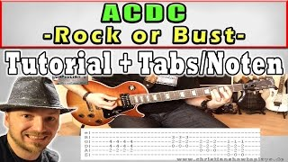 ★Acdc ROCK OR BUST Easy Guitar Tutorial Video Lesson + TABS (4K HD+)