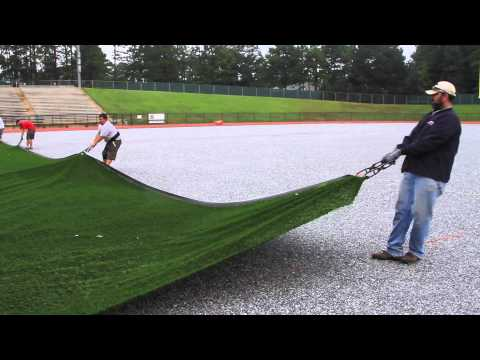 New artificial turf being installed at Kinnett Stadium in Columbus