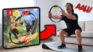 el RING FIT ADVENTURE de Nintendo SWITCH 😂 GAMEPLAY y unboxing en español **ME CANSO MUCHO**