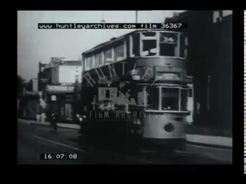 London Trams, 1950s - Film 36367