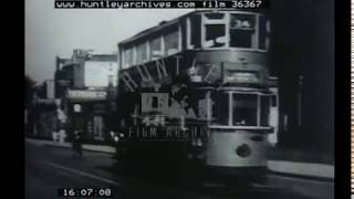 London Trams, 1950s - Film 36367