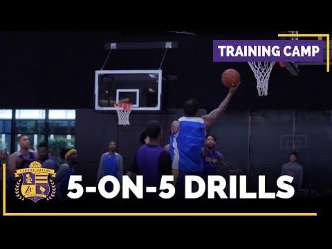Lakers Training Camp 5-On-5 Footage: Lonzo Ball, Brandon Ingram, Nance Jr. Randle