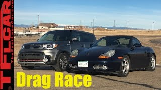 2017 Kia Soul Turbo vs Budget Boxster 201 HP Drag Race- Craigslist Project Porsche Ep.6