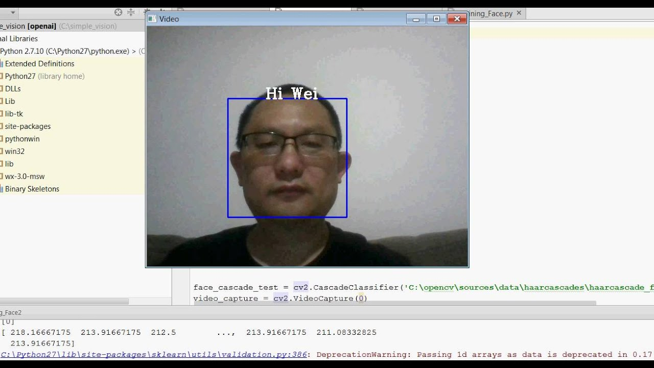 Simple Vision based on opencv and svm from scikit-learn