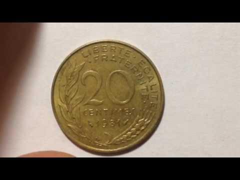 1981 20 centimes france coin youtube. Black Bedroom Furniture Sets. Home Design Ideas