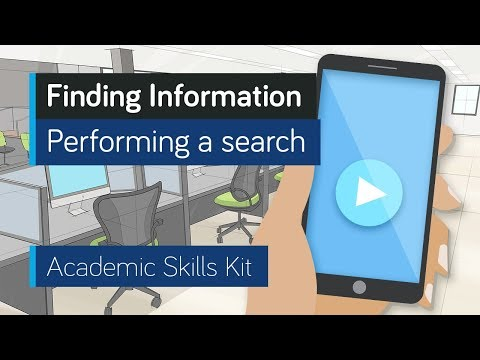 ASK Online Learning Resources 1.3: Finding Information - Performing a search