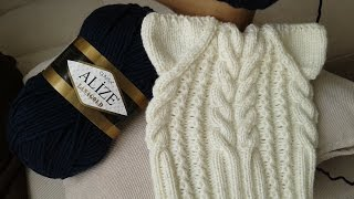 Шапка спицами. КотоШапка. Часть 2.  // Knitting for kids // How to knit a hat