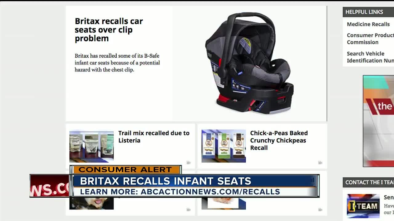 Britax Recalls Infant Car Seats Over Chest Clip Issue