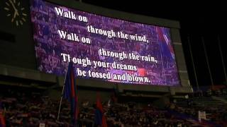 "FC東京の選手入場曲、""You'll never walk alone"" 撮影日:2010/03/31 撮..."