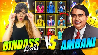 Collection Versus With Ambani || Bindass Laila VS Ambani || Garena Free Fire || Bindass Laila