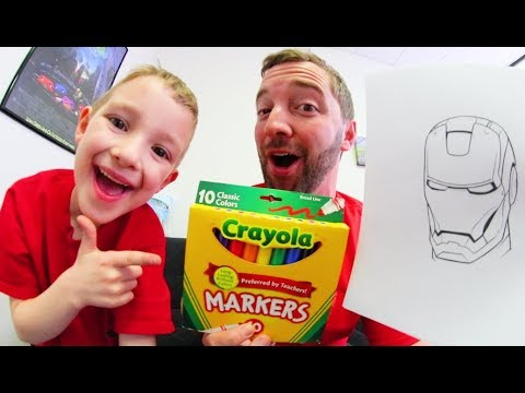 Father VS Son / 3 MARKER CHALLENGE!