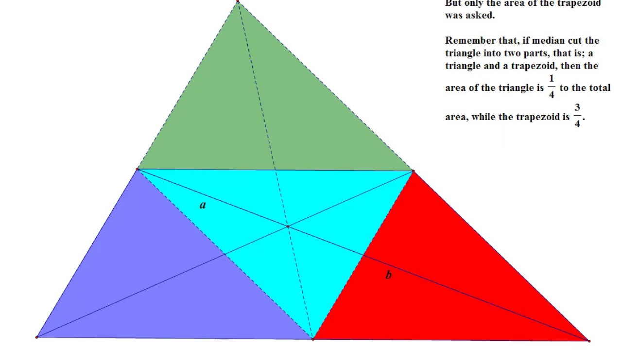 Trapezoid And Area Of Shaded Portion