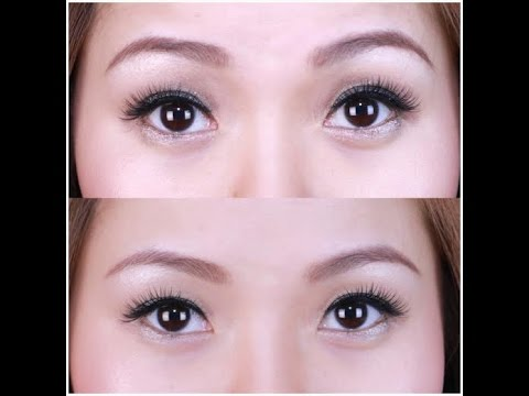 How to make your eyes look bigger with false lashes
