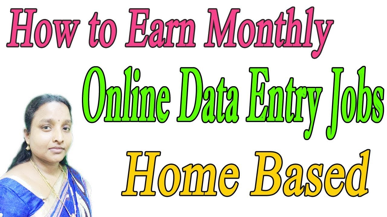 How to Earn Monthly Online Data Entry Jobs Home Based in Tamil - YouTube